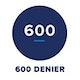 Denier = 600